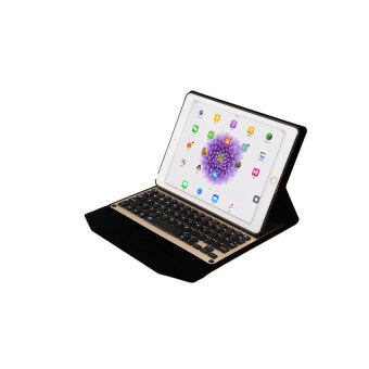 YJJZB Ultra-thin Aluminum Bluetooth Keyboard Case Portfolio SmartCover for IPad Pro 9.7 Inches. Gold - intl