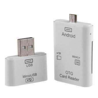 Zhuoda OEM 2in1 Micro USB & USB SD TF OTG Card Reader Kit For Samsung S4 S6 Note 4 HTC PC - intl