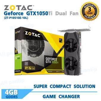 ZOTAC GeForce GTX 1050 Ti Dual Fan 4GB GDDR5 (ZT-P10510E-10L)