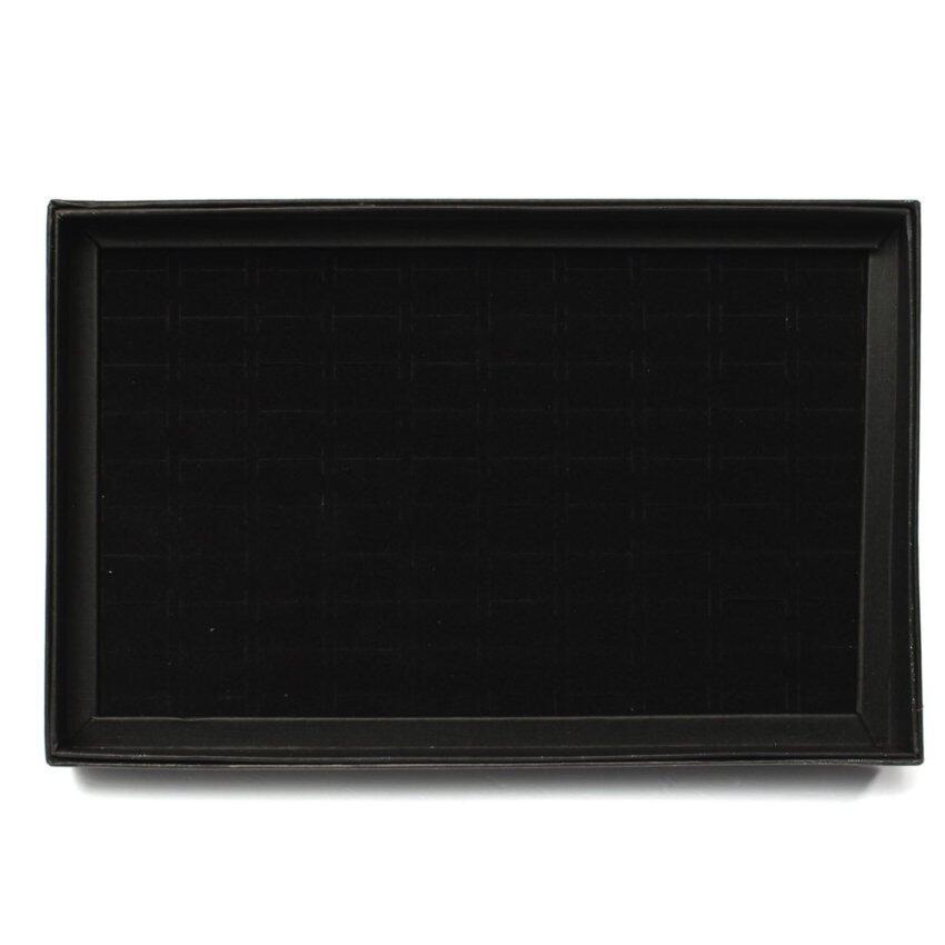 100 Slots Ear Ring Storage Display Box Jewelry Organizer Holder Case Tool Black (Intl)