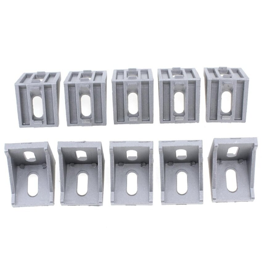 10pcs 4040 Aluminum Angle Code with Nut Hole Support T-slot Profile Frame Extrusion Brac ...
