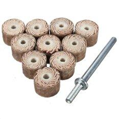 10pcs Flap Wheel Disc Shaft Abrasive Sanding Drill Polish For Dremel Rotary Tool 80# - intl ถูกๆ