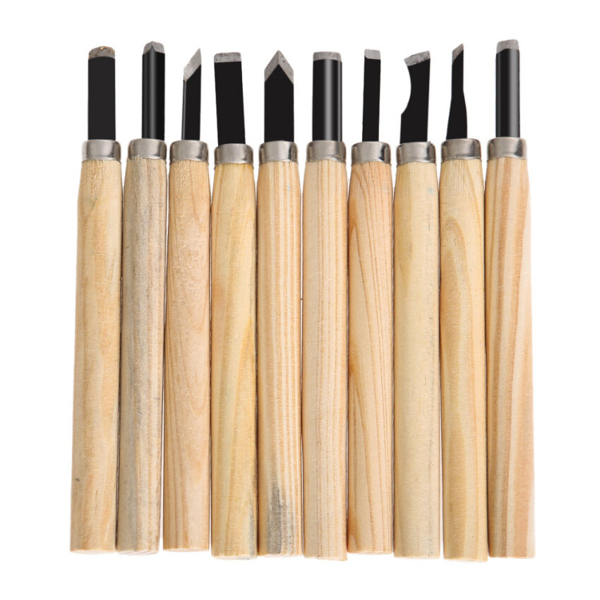 10pcs Hand Wood Carving Chisels for Basic Woodcut Working DIY Tools ...