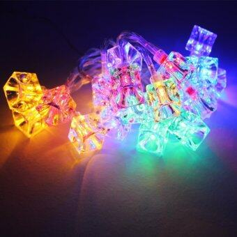 20-LED 86inch Battery Operated Wedding Ice Cube String Lamp Fairy Lights