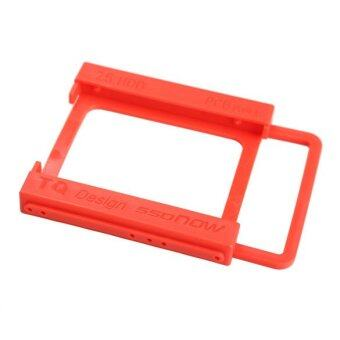 2.5 to 3.5 inch SSD Notebook HDD Hard Disk Mounting Adapter Dock Holder (Red)