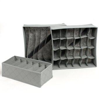 3-in-1 Underwear Bras Socks Storage Organizer Box Bag Case Bamboo Charcoal