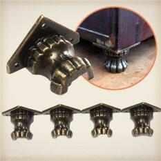 4pcs Metal Antique Brass Jewelry Chest Wood Box Shelfs Furniture Decorative Feet Leg Corner Protector Mini Hardware Parts Hw203 - Intl ราคา 269 บาท(-50%)