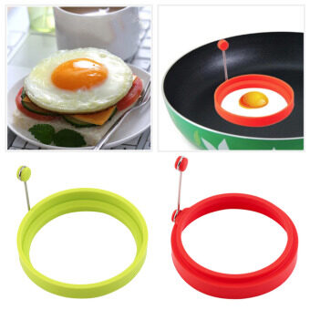 5pcs Creative Round Shape Silicone Omelette Shape Egg Fried Frying Pancake Cooking Mold Breakfast