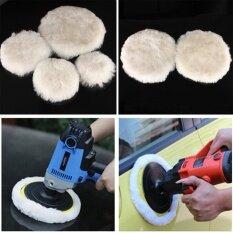 6 Pc Wool Buffing Pad Car Detailing Polishing Velcro Backing Buffer 125mm - Intl ราคา 379 บาท(-50%)