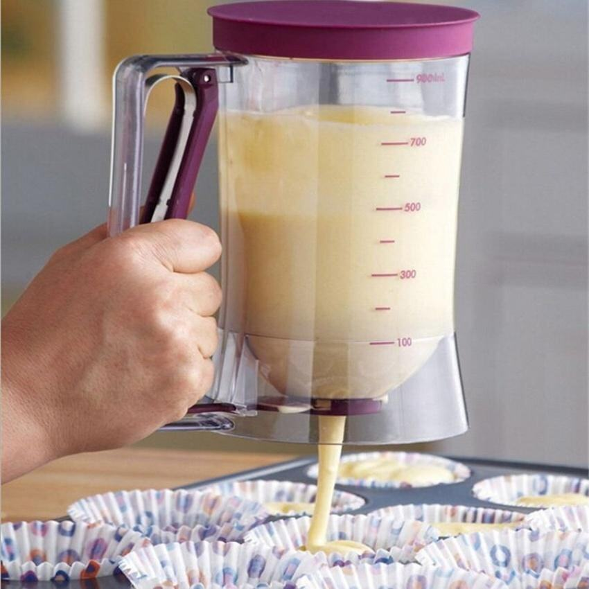 900Ml Batter Dispenser Jug For Cupcake Pancakes Muffinswaffles No Mess Release - intl