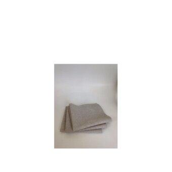 ผ้าไมโครไฟซุปเปอร์ชามัวร์ เกรดA 30X42 cm.สีเทา แพ็ค 12 ชิ้น