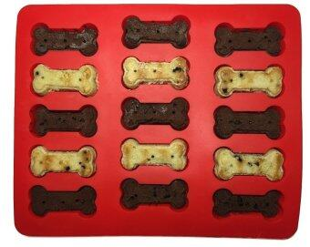 AJUSEN 1 Pcs Food Grade Large Mats Trays Puppy Pets Dog Paws and 1 Pcs Bones Silicone Baking Molds Bake Dog Treats for Pets Kids Dog-lovers Kitchen Tips - intl