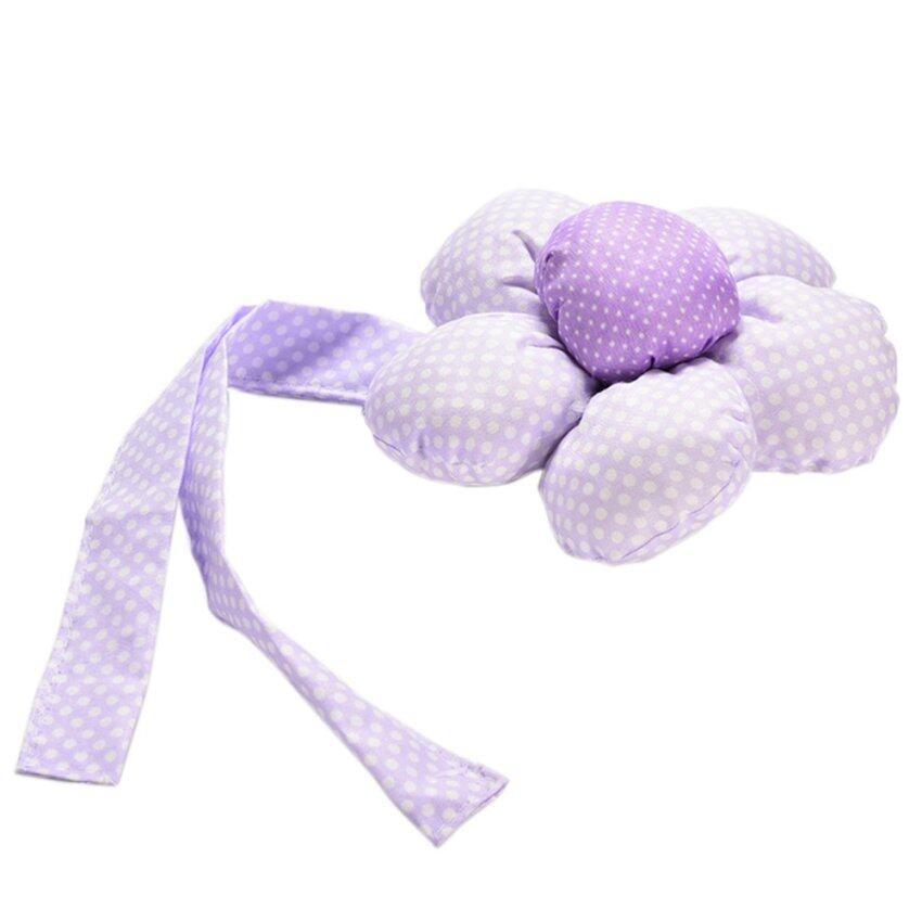 Amango Sun Flower Shaped Window Curtain Chic Tie Backs Holder Home Decorations Decor 2Pcs Purple - intl
