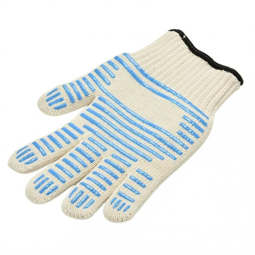 Amazing Heat Proof Ove Glove Non-slip Silicone Grip Durable Surface Hand - intl ...