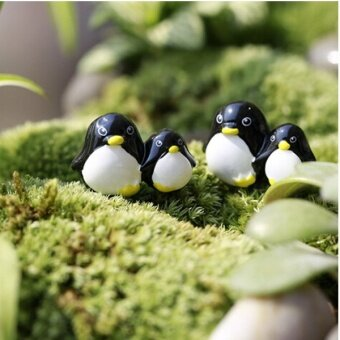 Arctic Penguin Mini Fairy Garden Micro Dollhouse Pot Bonsai Terrarium DIY Craft