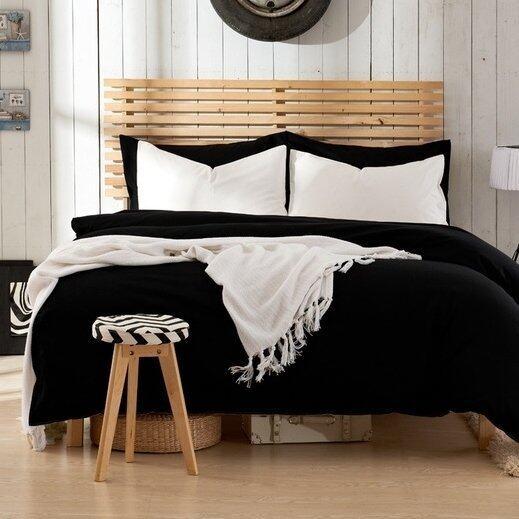 Bedding Cheap ผ้าปูที่นอน ชุดผ้านวม เกรด A 6 ฟุต 6 ชิ้น สีล้วน 023