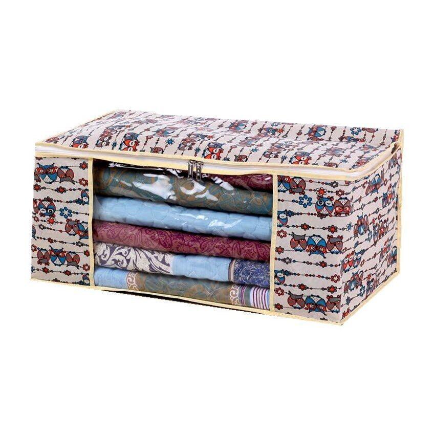 Better Homes กระเป๋าเก็บผ้าห่ม-เครื่องนอน ลายนกฮูก-เล็ก