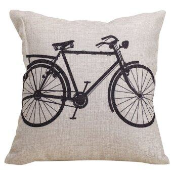 Bicycle Throw Pillow Cove (Brown/Black)