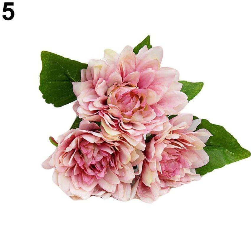 Bluelans 1 Bouquet 3 Pcs Caroline Dahlia Artificial Flowers Home Room Wedding Decor (Lig ...