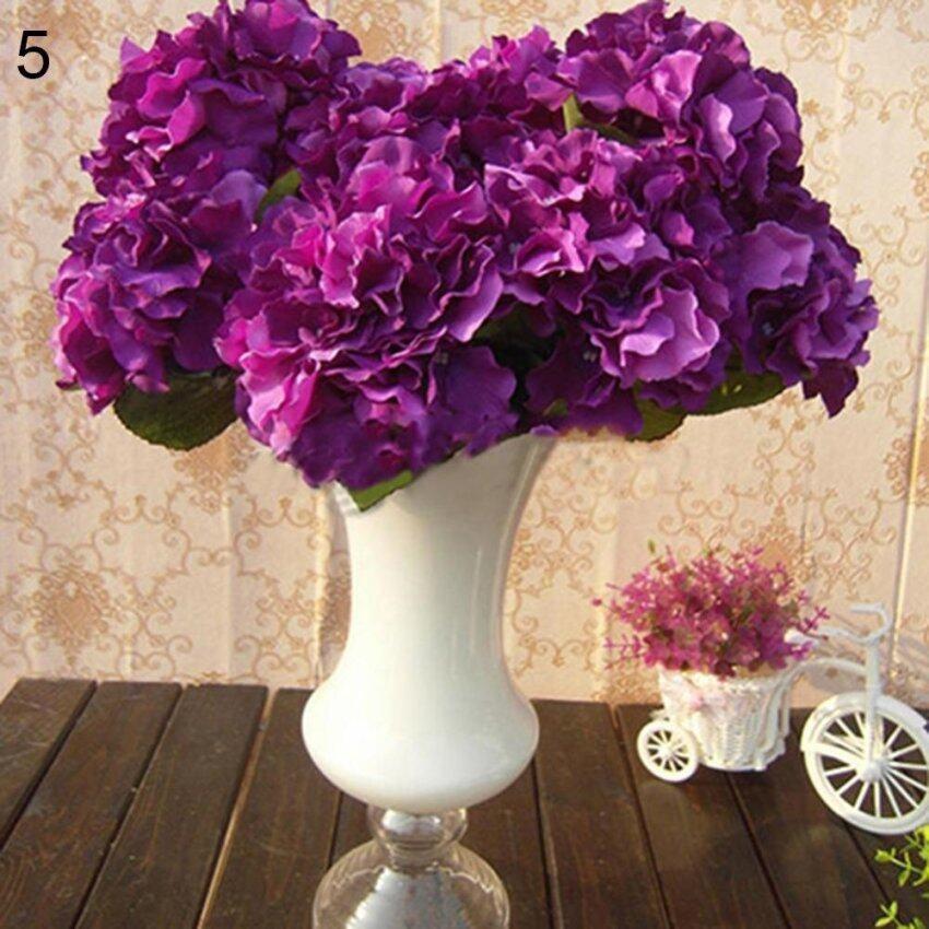 Bluelans Artificial Peony Silk Flower Bridal Hydrangea Home Wedding Garden Decor (Purple ...