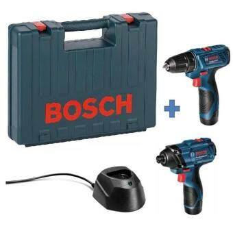 BOSCH ชุดคอมโบ สว่านไขควงแบต+ไขควงกระแทก รุ่น GDR120-LI+GSR120-LI(COMBO KIT)