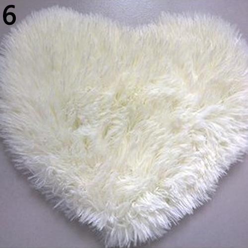 Broadfashion Short Plush Carpet Kids Heart Shape Cushion Soft Shaggy Area Rug Anti Slip  ...