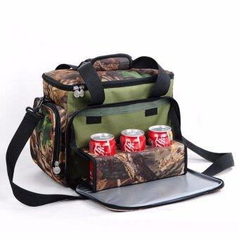 Camouflage Cola Picnic bag insulation package refrigerated lunch bag outdoor picnic package tour package