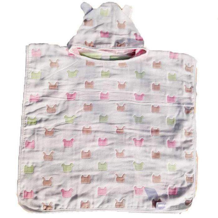 Cartoon Baby Hooded Bathrobes Infant Bath Towel Bathing Robe for Kids Baby Bathrobe Pajamas Beach Towel Cape Hedging Gifts 65x60cm(Green) - intl