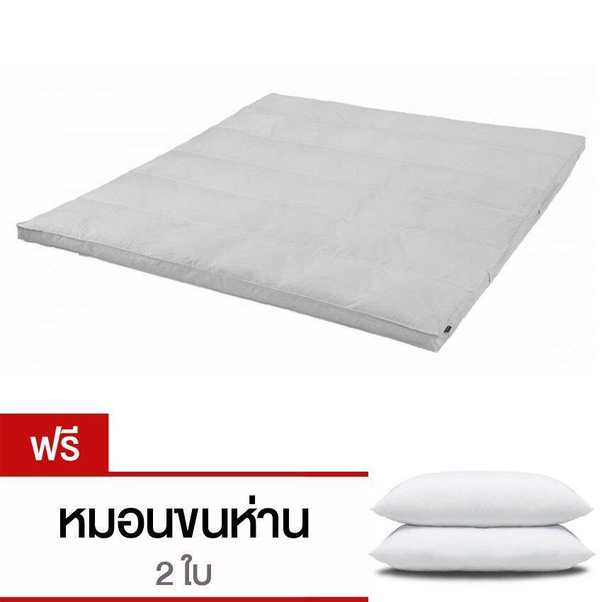 แนะนำCB Cotton Topper เบาะรองนอนขนแกะเทียมจากญี่ปุ่น กันไรฝุ่นและเชื้อราขนาด 5 ฟุต รุ่นTopper (สีขาว) แถม หมอนห่านเทียม 2 ใบ ราคาโครตถูก