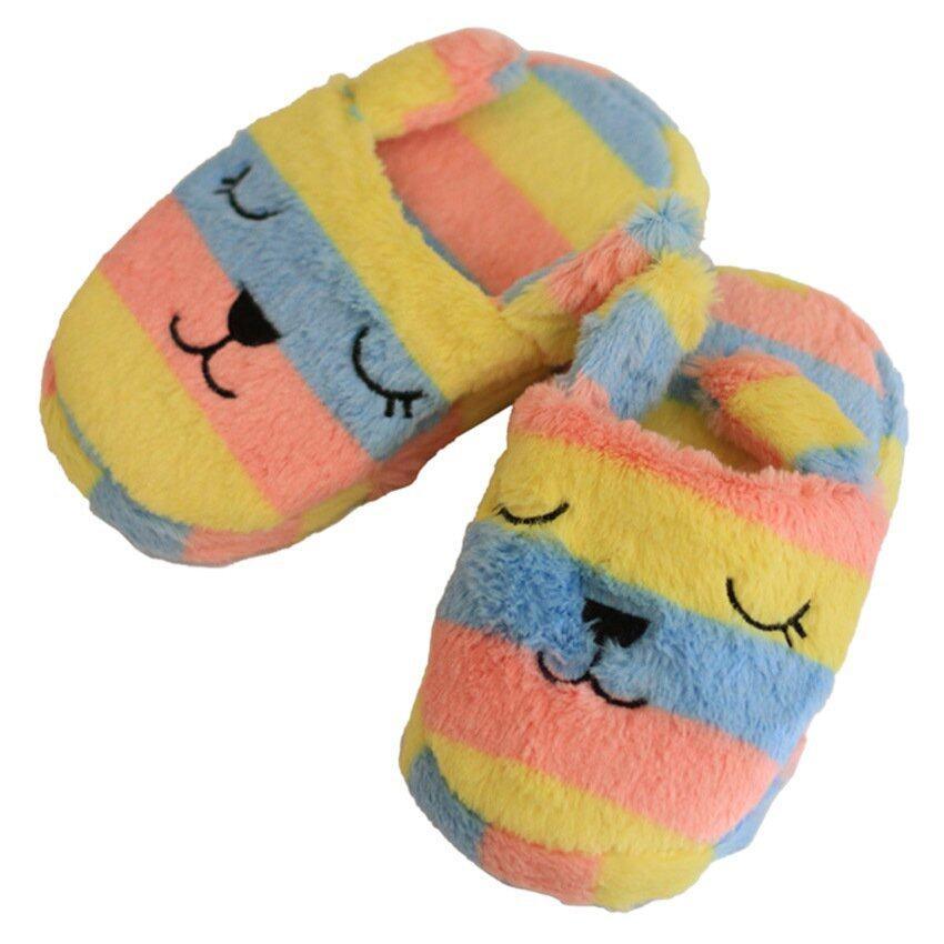 Chic รองเท้าสลิปเปอร์พร้อมยางกันลื่น – สีชมพู/เหลือง/ฟ้า ฟรีไซส์
