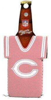 CHICAGO BEARS PINK BOTTLE JERSEY KOOZIE COOZIE COOLER - intl