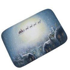 Christmas Snowflake 3d Printed Flannel Carpet Rug Anti-Slip Kitchenmat Absorbent Bathroom Floor Mats Carpets Entrance Doormat 60*90cm - Intl ราคา 864 บาท(-23%)