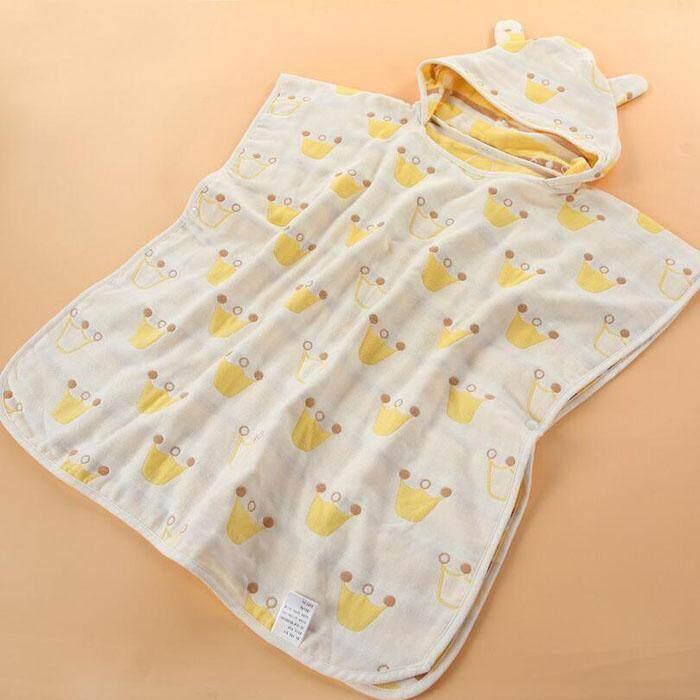 Cotton Baby Hooded Bathrobes Infant Bath Towel Bathing Robe for Kids Baby Bathrobe Pajam ...