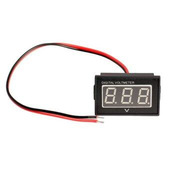 DC 15 to 120V Waterproof Red Panel Meter DC Digital Voltmeter Two-wire - Intl