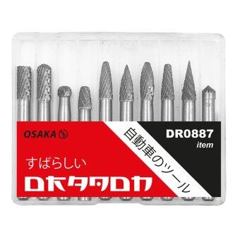 DRAGON ชุดเหล็กเจียรนัย TUNGSTEN CARBIDE แกน 6mm x หัวเจียร 6mm DR0887