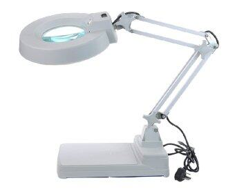 dubbletool โคมไฟแว่นขยายตั้งโต๊ะ Magnifying Lamp 10x - White