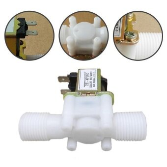 Electric Solenoid Valve Magnetic Normally Closed Water Inlet FlowSwitch 1 Pcs - intl