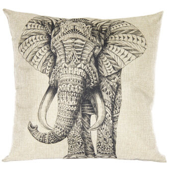 Elephant Throw Pillow Cove (Brown/Black)