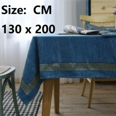 European Royal Classic Style Tablecloth, Spillproof Microfiber Fabric Rectangle Washable For Restaurant, Cafe, Dinning Room Decor, Size: 130 X 200 Cm - Intl ราคา 758 บาท(-50%)