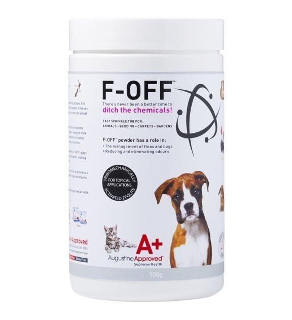 F-OFF ผลิตภัณฑ์กำจัดเห็บหมัด และลดกลิ่นตัว แบบออร์แกนิค ปลอดภัย ไร้สารเคมี สำหรับสุนัขและแมว