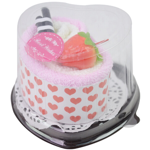 Fang Fang 1 x Strawberry heart cake face Towel Boutique Wedding Favor Gift (Pink) ...