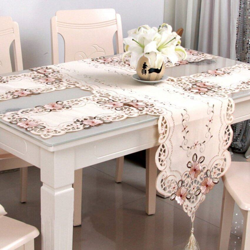 Flower Table Runner Table Mat Tablecloth Wedding Party Home Decorative - intl ...