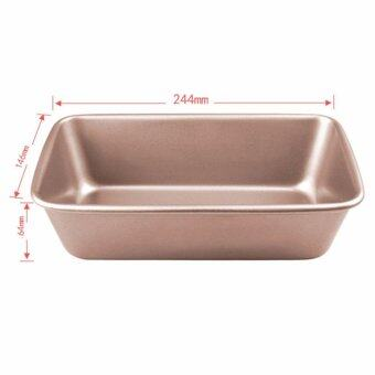 Golden 2 pound rectangle non-stick Bar plate Toast box rectangle tray