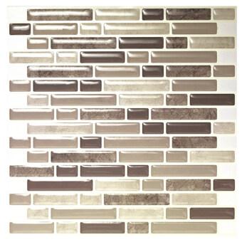Hanhwa L&C Bodaq D.I.Y Tile Sheet BRW01 Random Brick Style Pack of 10 (Gray) - Intl