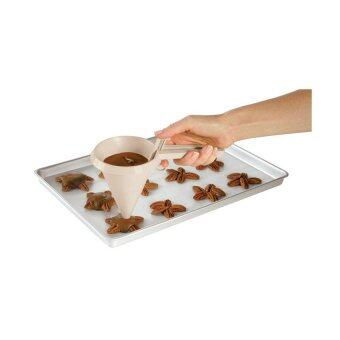 HL Environmental Plastic Easy Pour Candy Chocolate Cream Making Funnelkicthen Tools White - intl