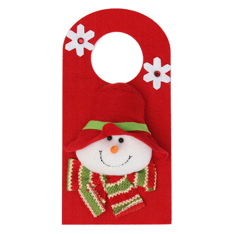 Household Christmas Ornaments Door Handle Hanger Decor Tool Snowman