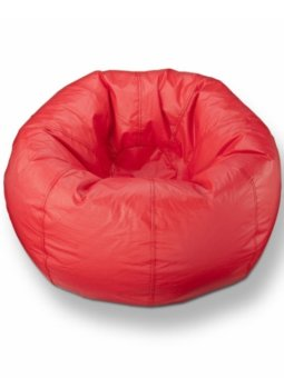 New Brand Bean Bag ทรงกลม ขนาด 50x50x40 cm - สีแดง