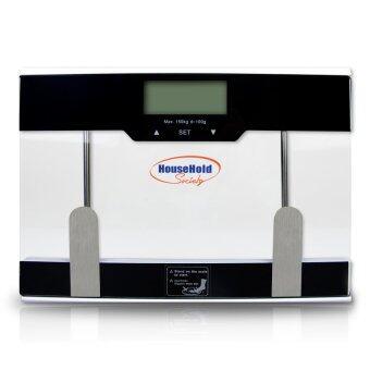 HHsociety เครื่องชั่งน้ำหนักดิจิตอลวัดไขมัน 204 (สีดำ)