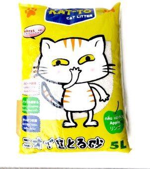 KAT-TO Cat Litter ทรายแมว กลิ่นแอปเปิ้ล ขนาด 5 ลิตร