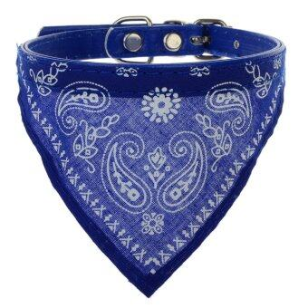 1pc Adjustable Pet Dog Puppy Cat Neck Scarf Bandana with Collar Neckerchief Blue